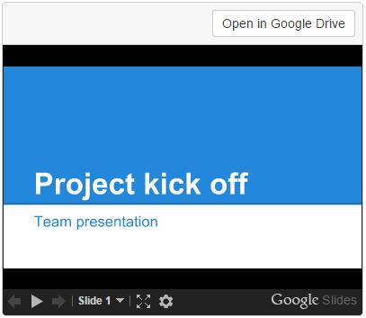 Google Drive macros - Atlassian Documentation