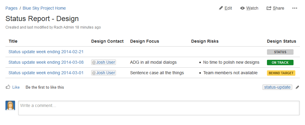 Create a blueprint-style report - Atlassian Documentation