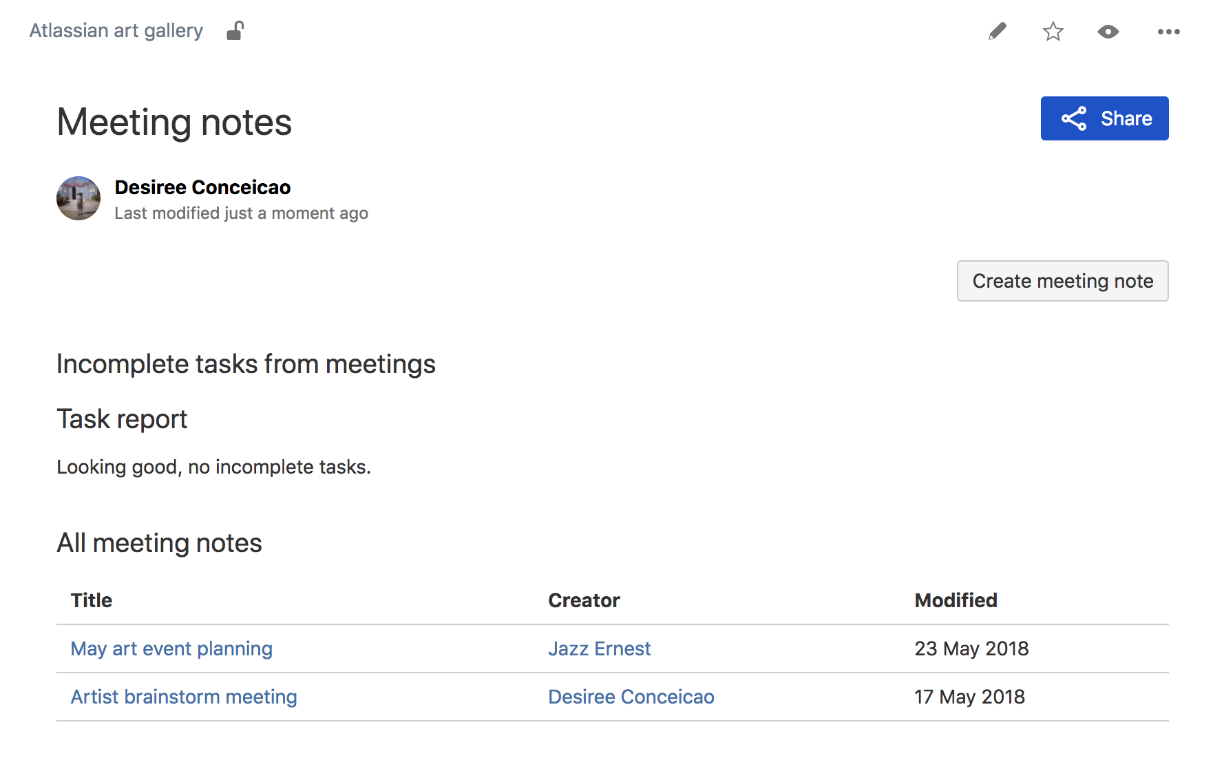 meeting notes template atlassian documentation