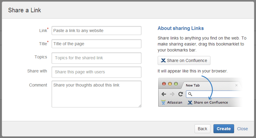 how to create subspace in confluence