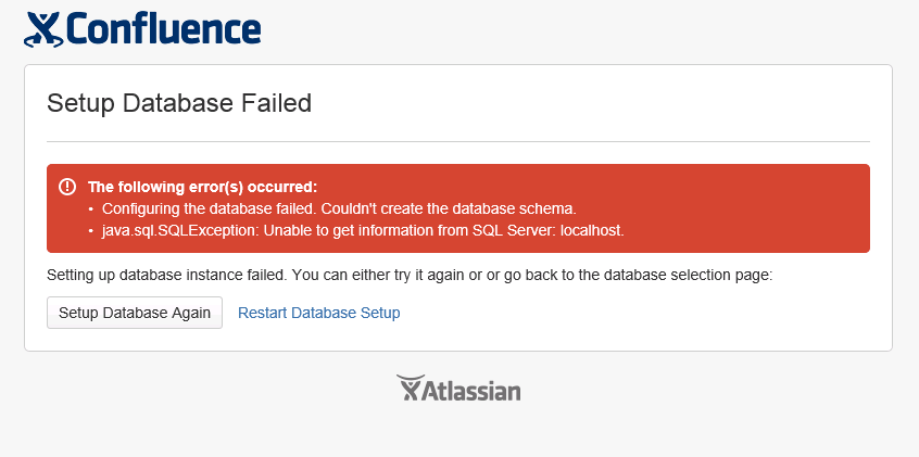Problem when installing Confluence 5 6 or below with SQL