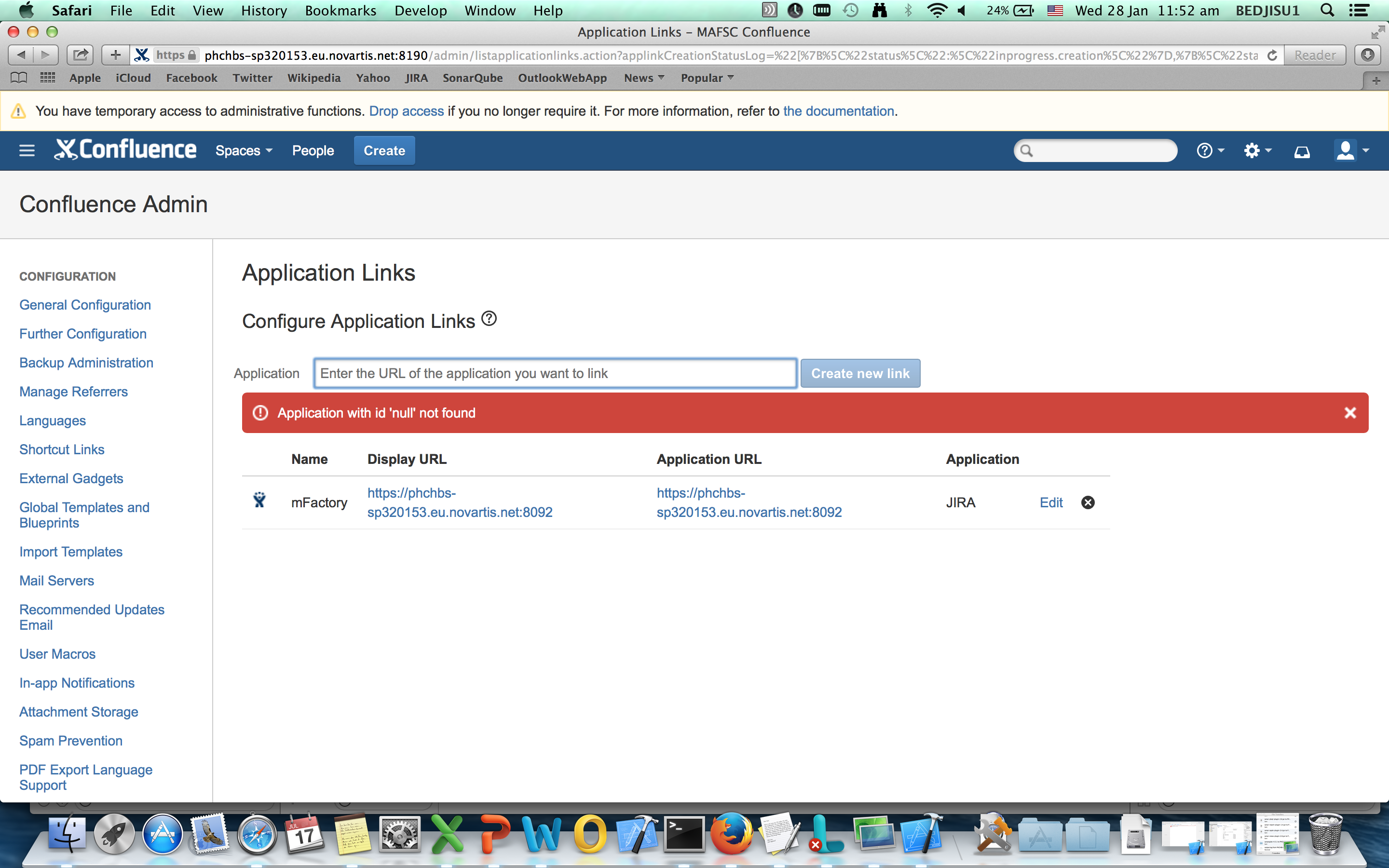 Application With Id Null Not Found Confluence Atlassian Documentation