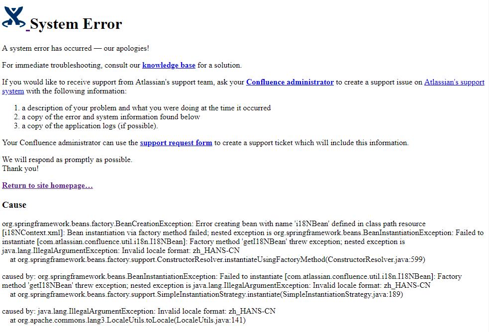 Invalid locale format errors for certain users - Atlassian Documentation