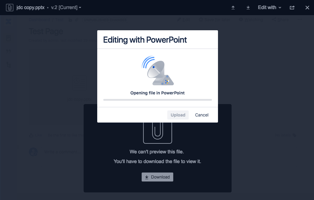 Edit Attachment feature does not work when using self-signed