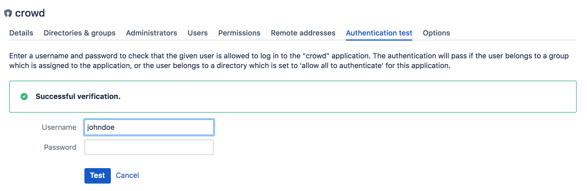 Testing a User's Login to an Application - Atlassian Documentation