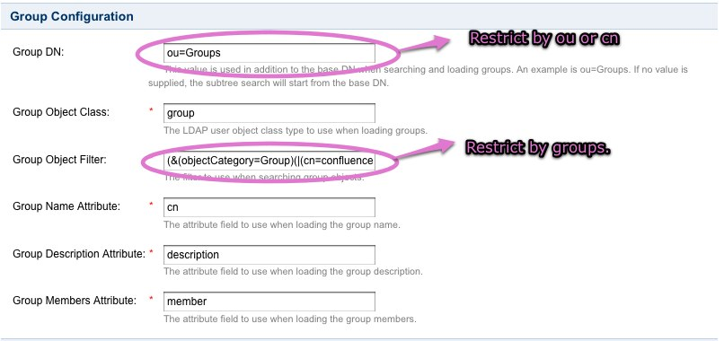 Restricting LDAP Scope for User and Group Search - Atlassian