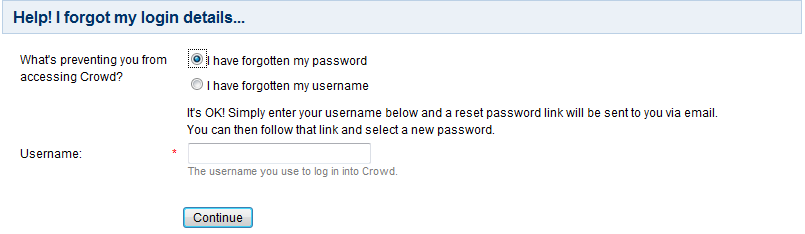Resetting Forgotten Passwords - Atlassian Documentation