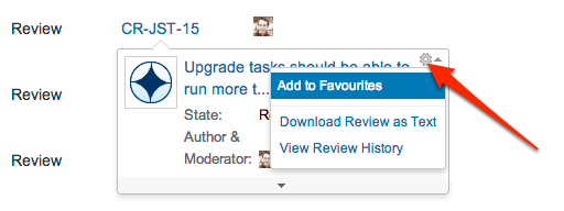 in the popup click the cog icon and choose add to favorites