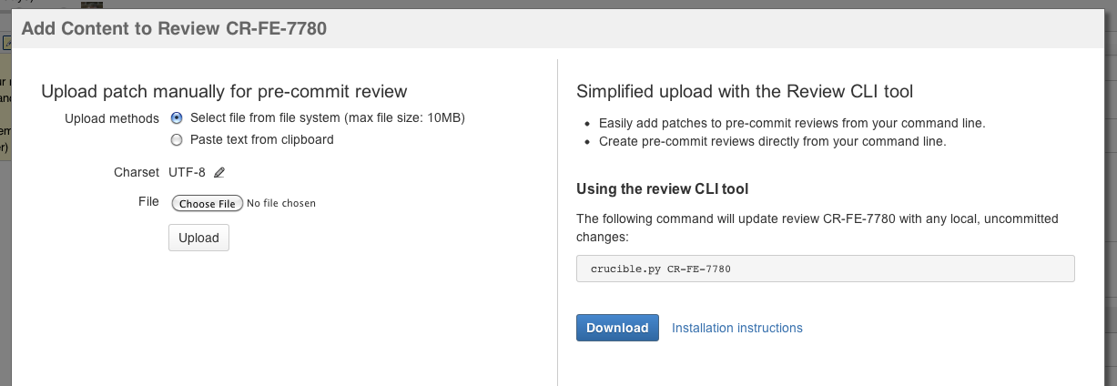 Creating reviews from the command line - Atlassian Documentation