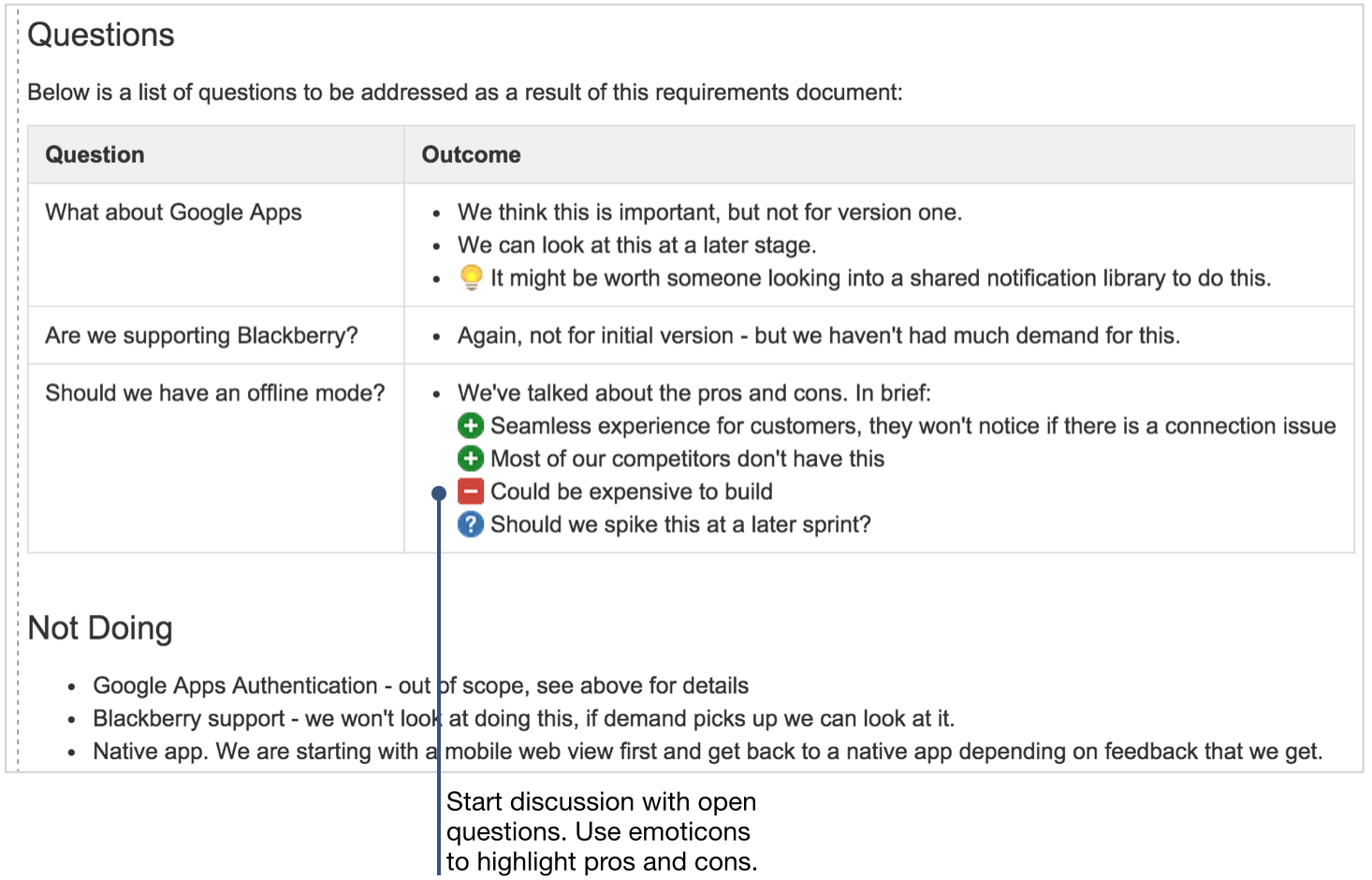 6. Address Questions And Clarifications  Product Recommendation Template