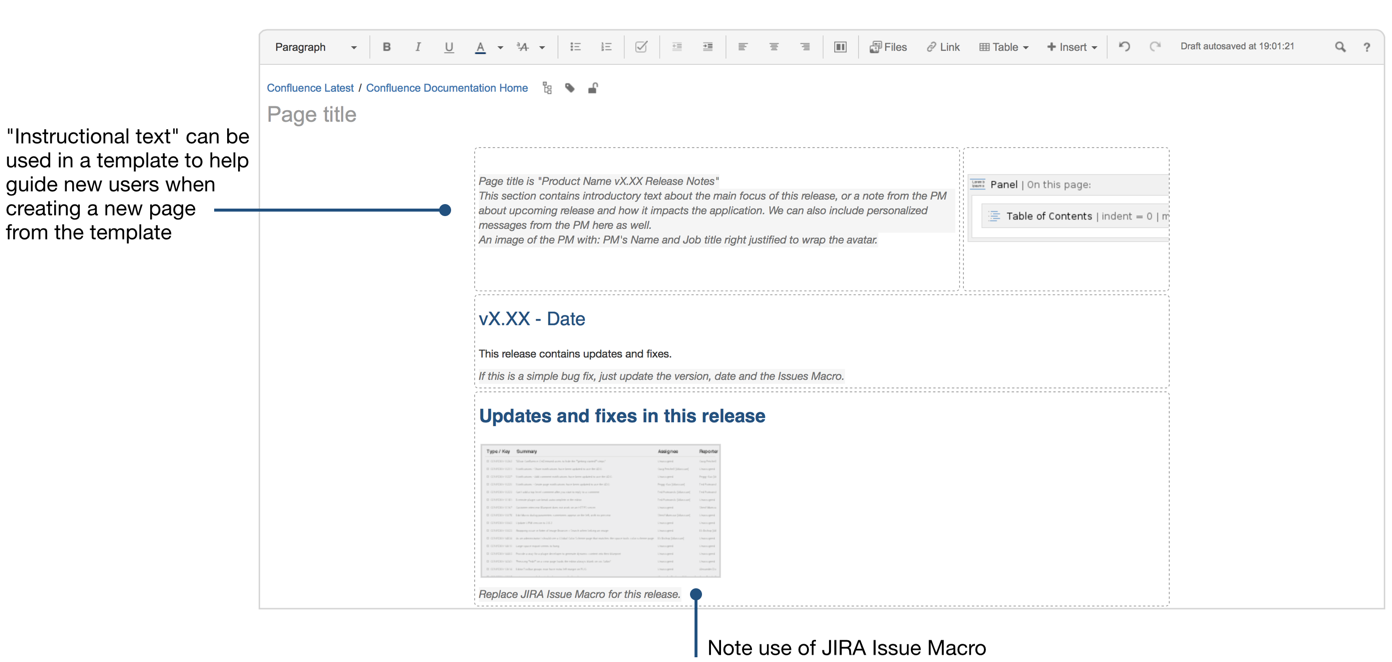 How to document releases and share release notes for Confluence blog template