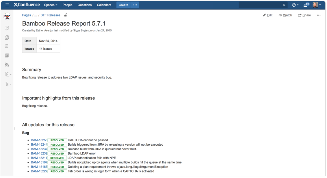 changelog template How to document releases and share release notes - Atlassian ...