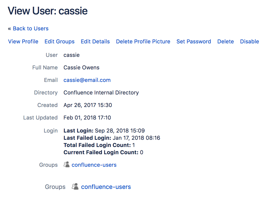 Edit user details atlassian documentation reset login count malvernweather Gallery
