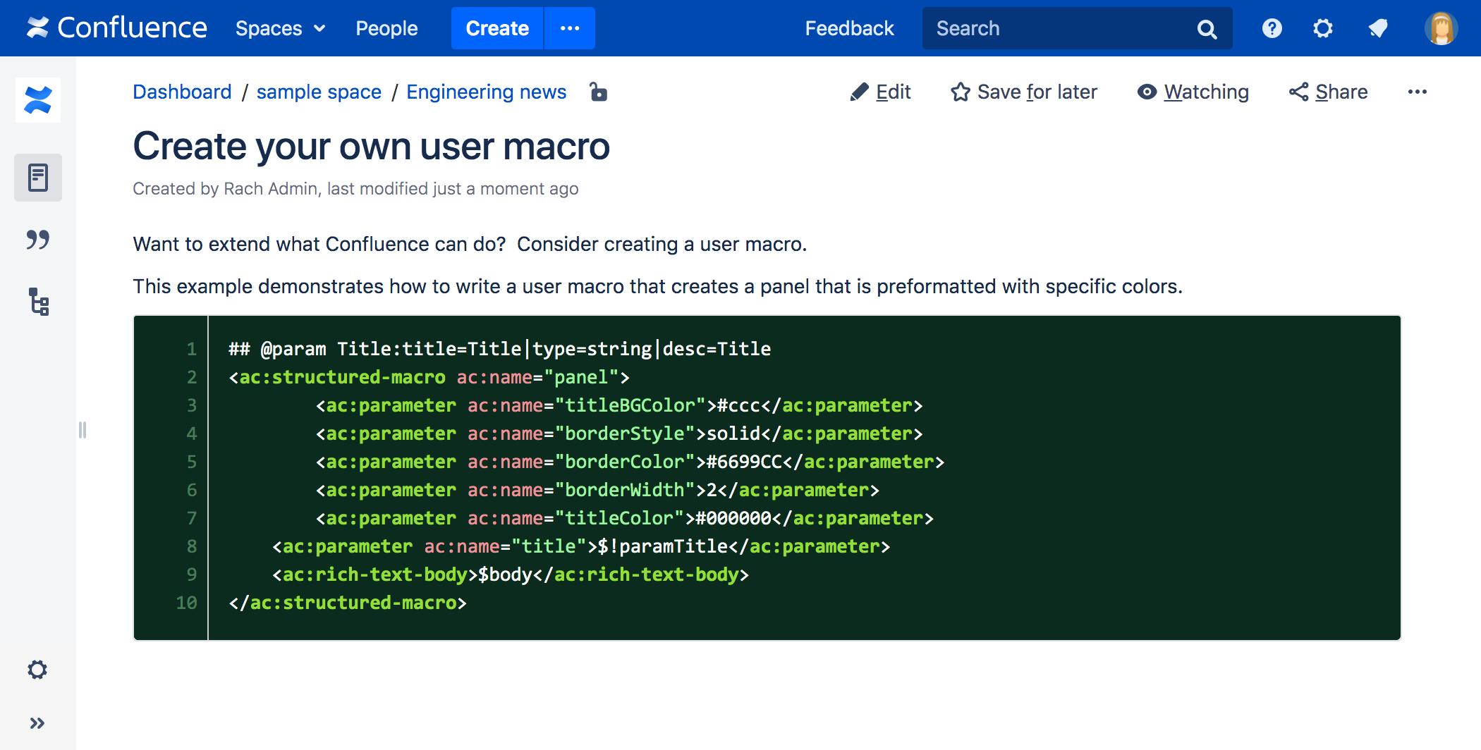 Code Block Macro Confluence Atlassian Documentation