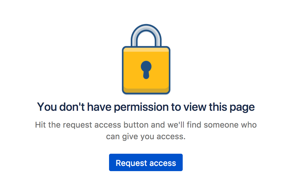Page Restrictions - Atlassian Documentation