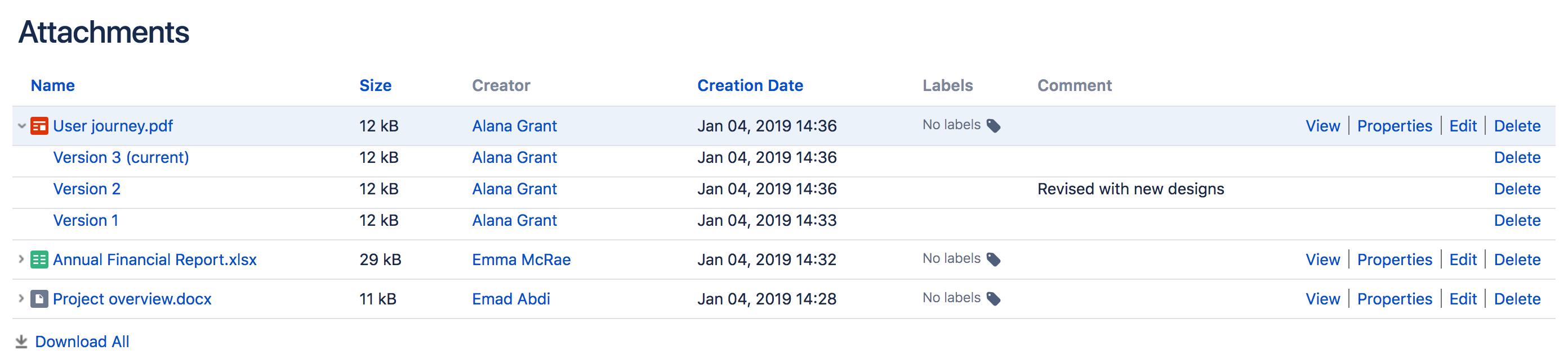 Manage Files - Atlassian Documentation