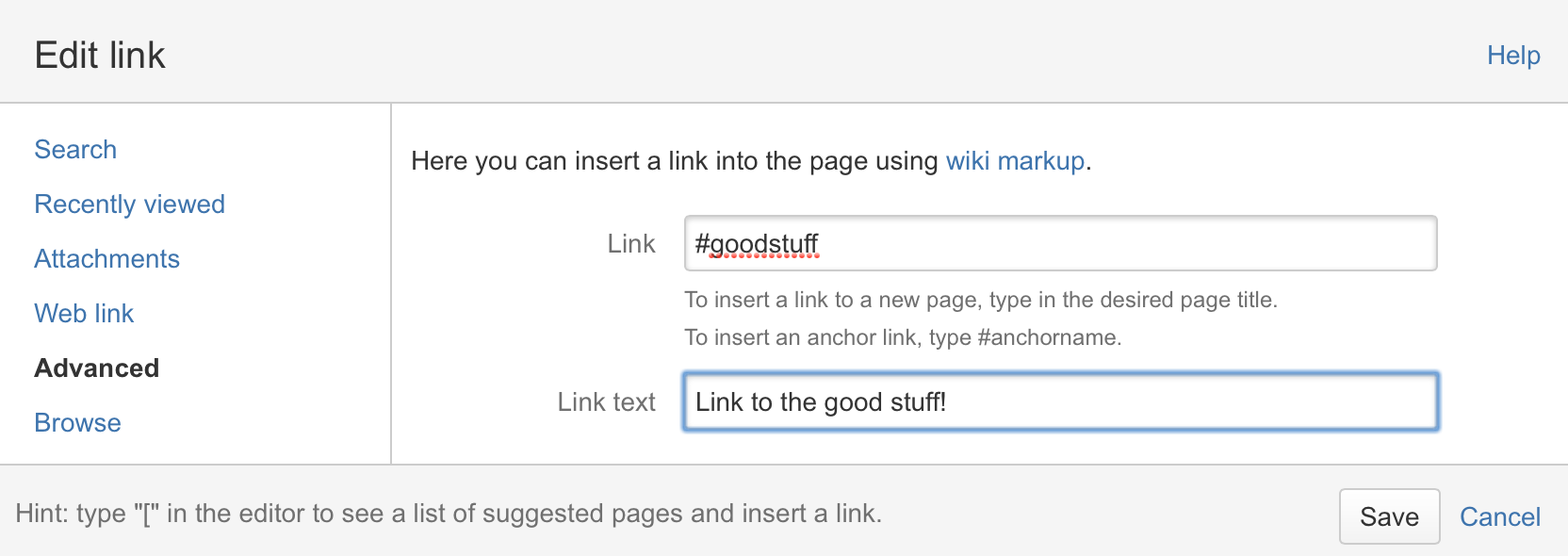 Link To An Anchor From Another Web Page Or Another Confluence Site: