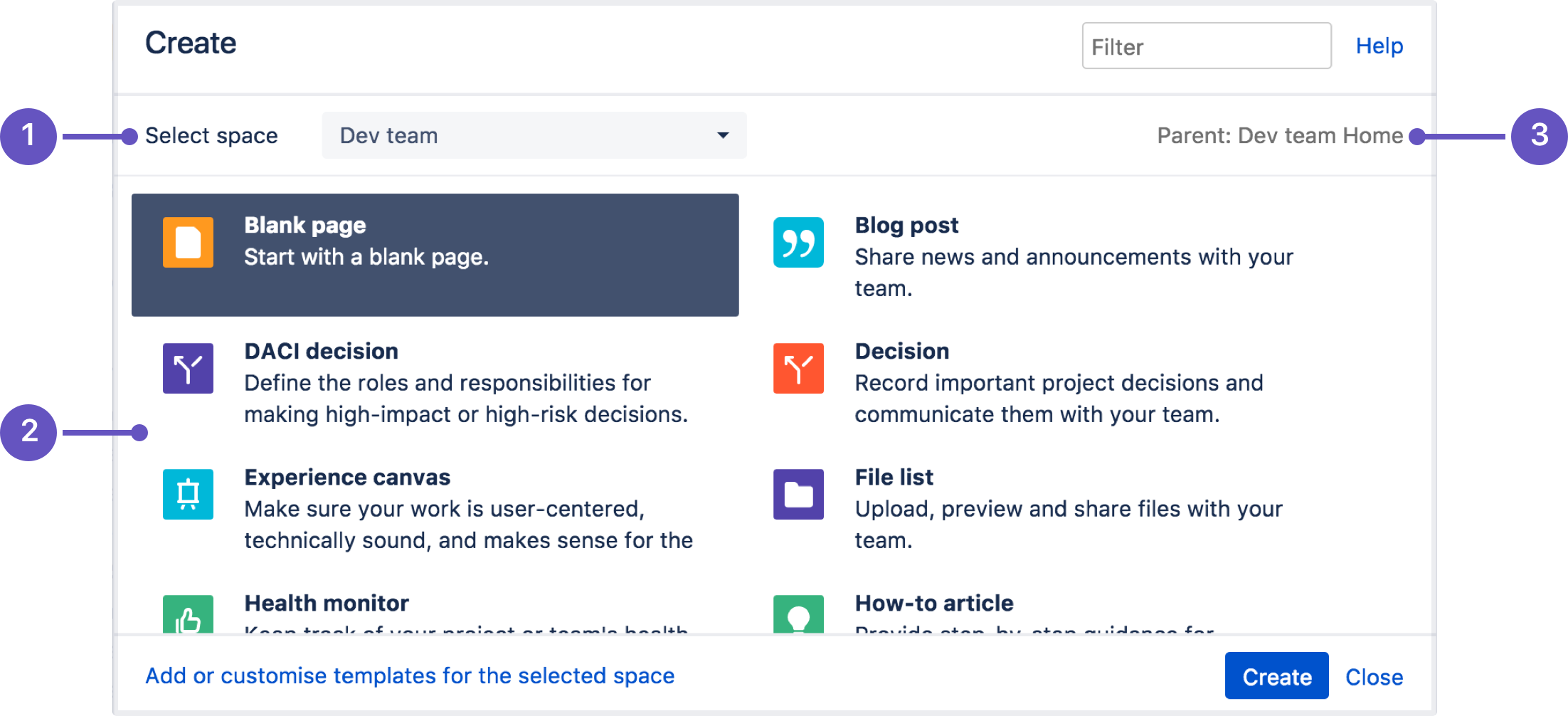 Create And Edit Pages Atlassian Documentation - Create web page template