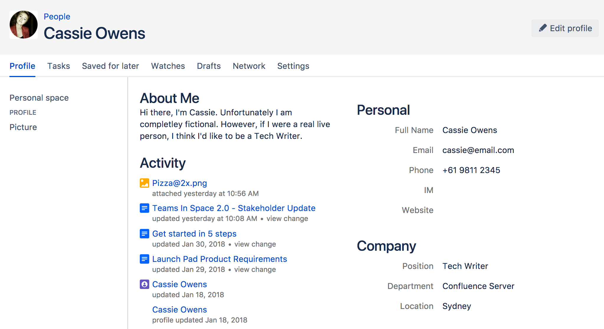 your user profile atlassian documentationfrom your user profile, you can access the following