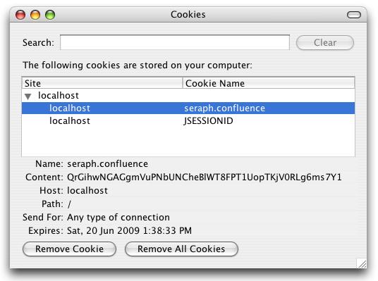 Confluence Cookies - Atlassian Documentation