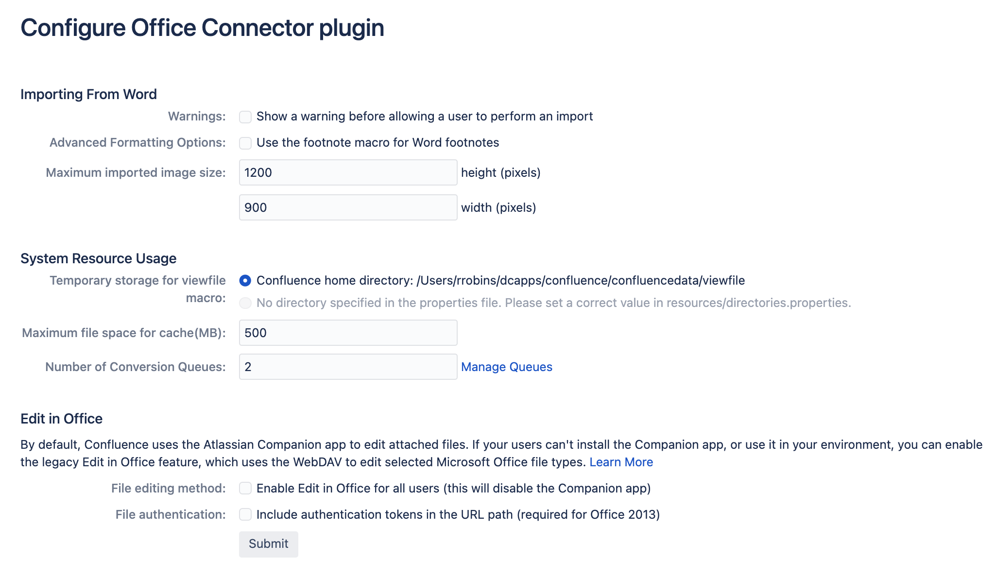 Configuring the Office Connector - Atlassian Documentation