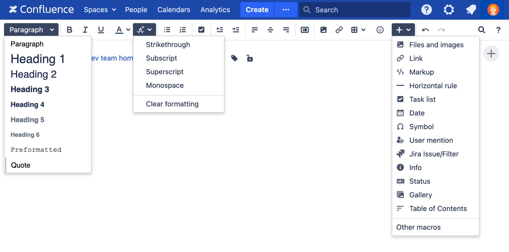 The Editor - Atlassian Documentation