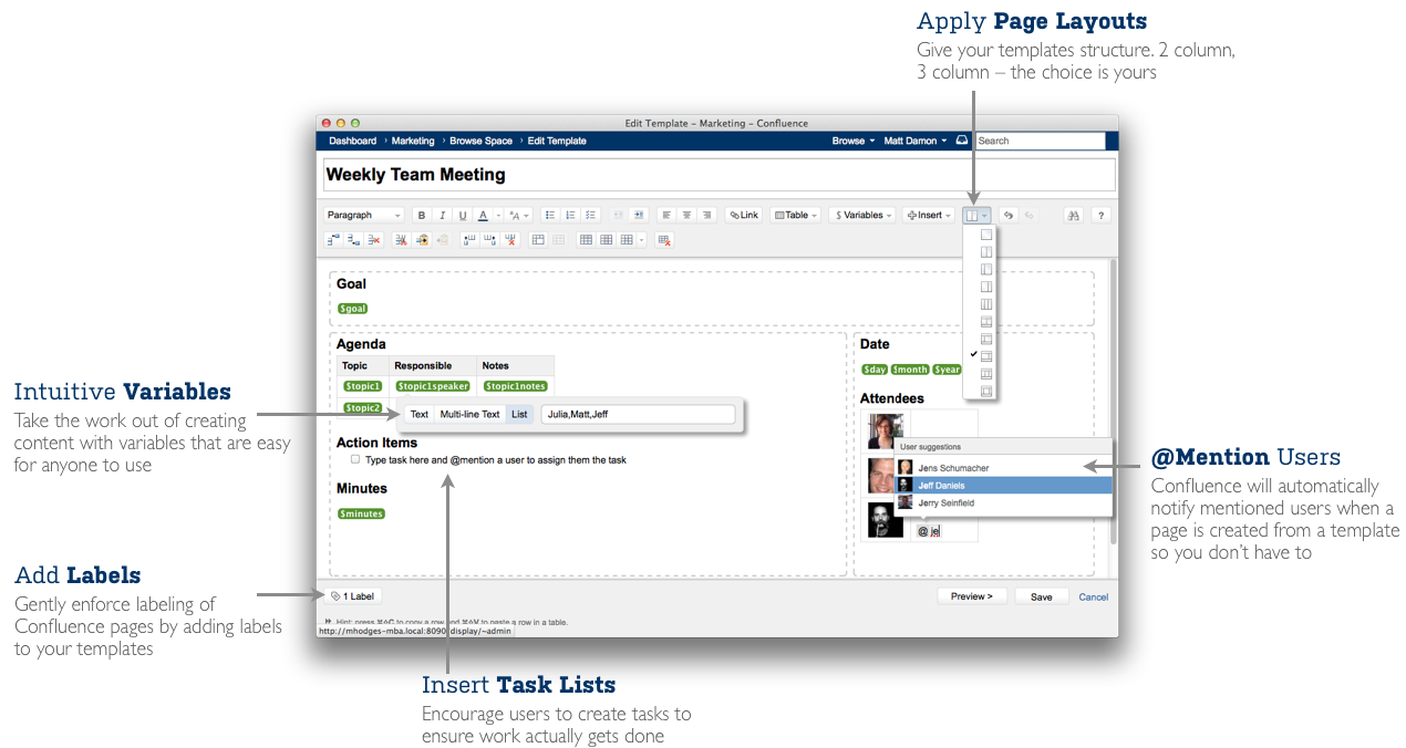 Confluence 4 3 release notes atlassian documentation for Confluence create page template