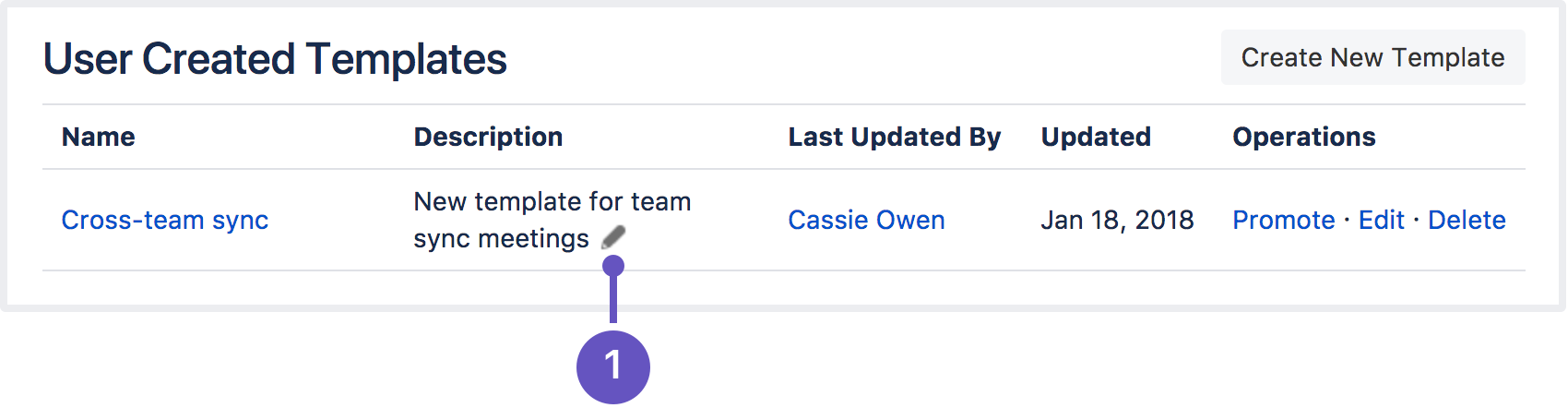 Create a template atlassian documentation edit use the pencil icon to edit your templates description pronofoot35fo Gallery