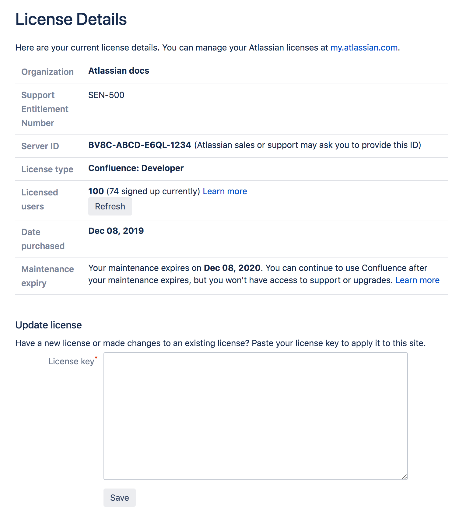 Managing your Confluence License - Atlassian Documentation