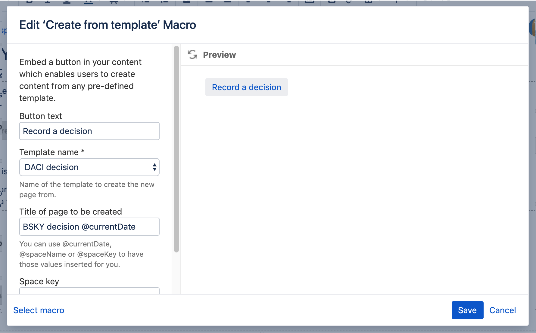 Record Of Decision Template from confluence.atlassian.com