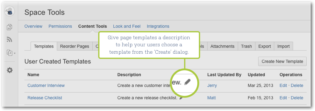 Confluence 5 1 release notes atlassian documentation for Confluence create page template