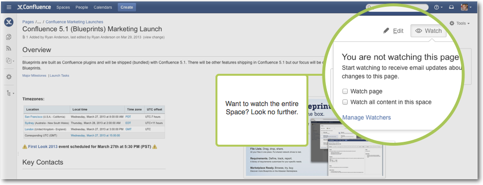 confluence blog post template - confluence release notes at a glance atlassian confluence