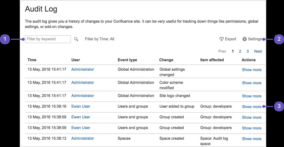Audit log - Atlassian Documentation