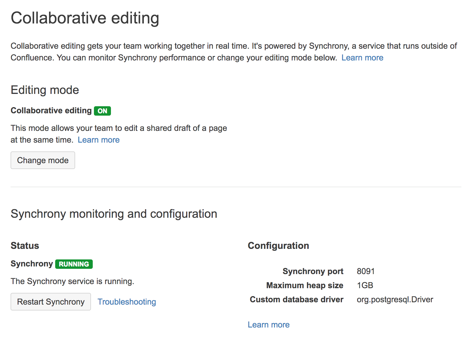 Administering Collaborative Editing - Atlassian Documentation