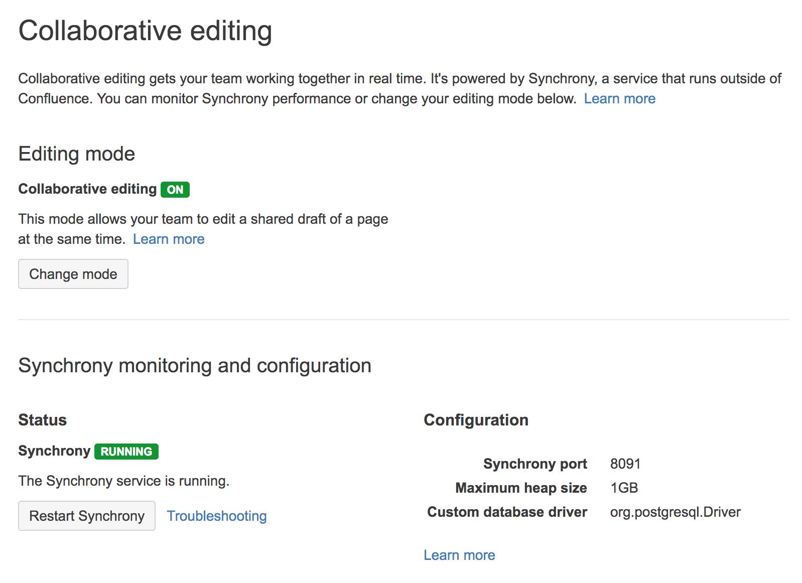 Administering Collaborative Editing Atlassian Documentation