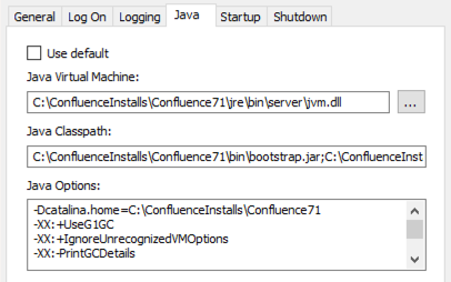 Change the Java vendor or version Confluence uses