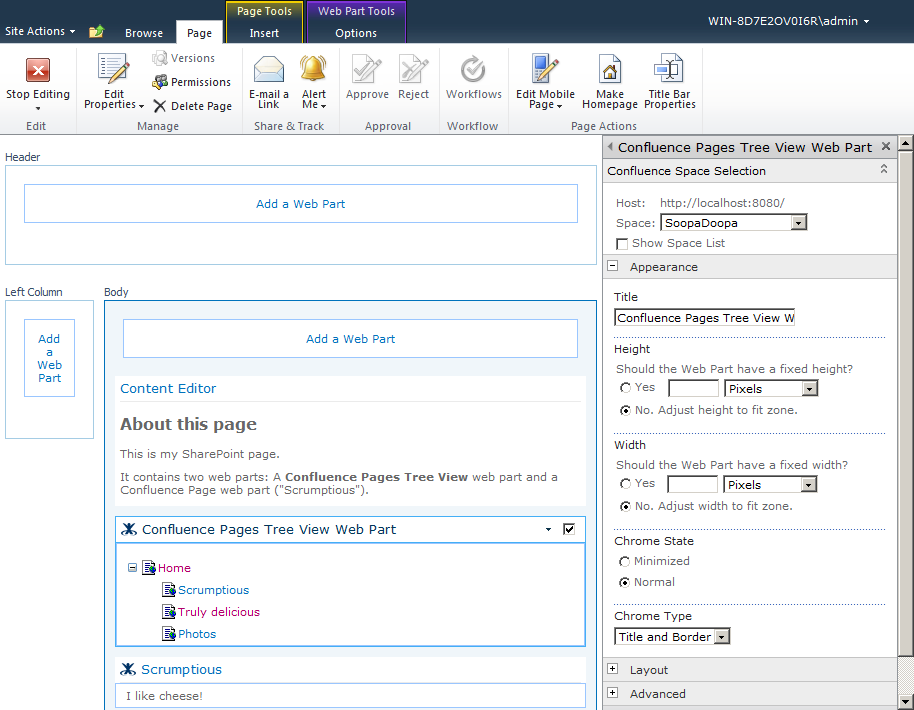 Using The SharePoint 2010 Web Parts