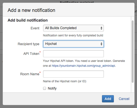 Integrating Bamboo with HipChat - Bamboo latest (5.8 ...