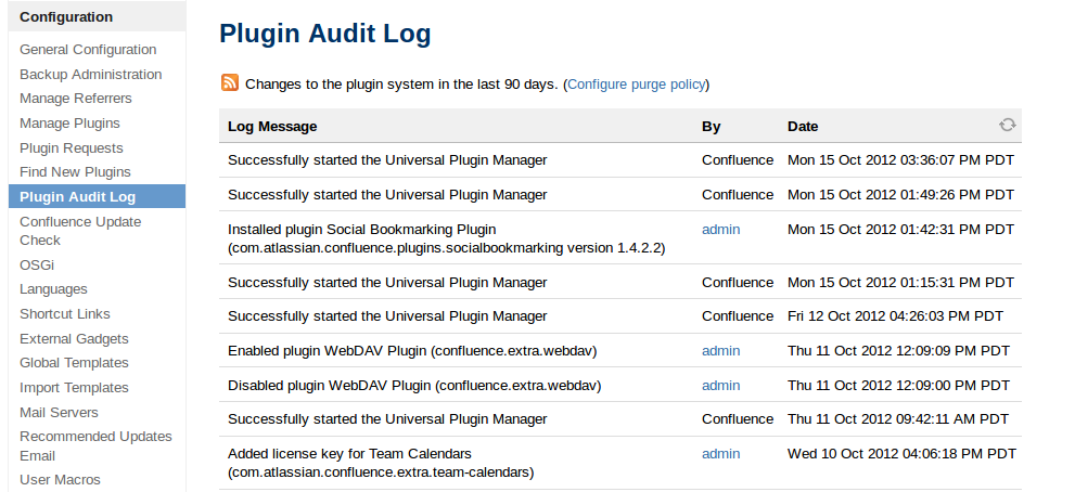 Viewing the Plugin Audit Log - Universal Plugin Manager 2.7.6 ...