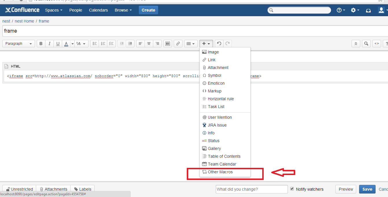 how to include the current date in confluence document