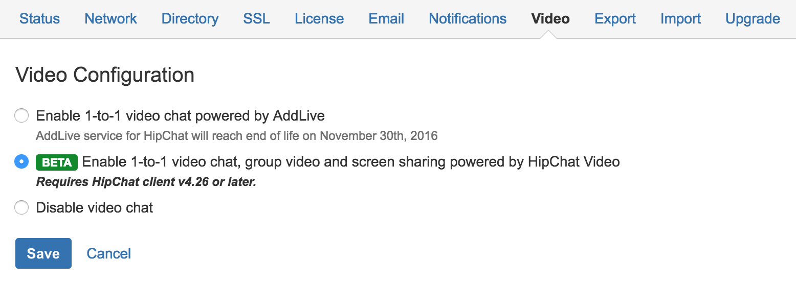 Video Chat and Screen Sharing - Atlassian Documentation