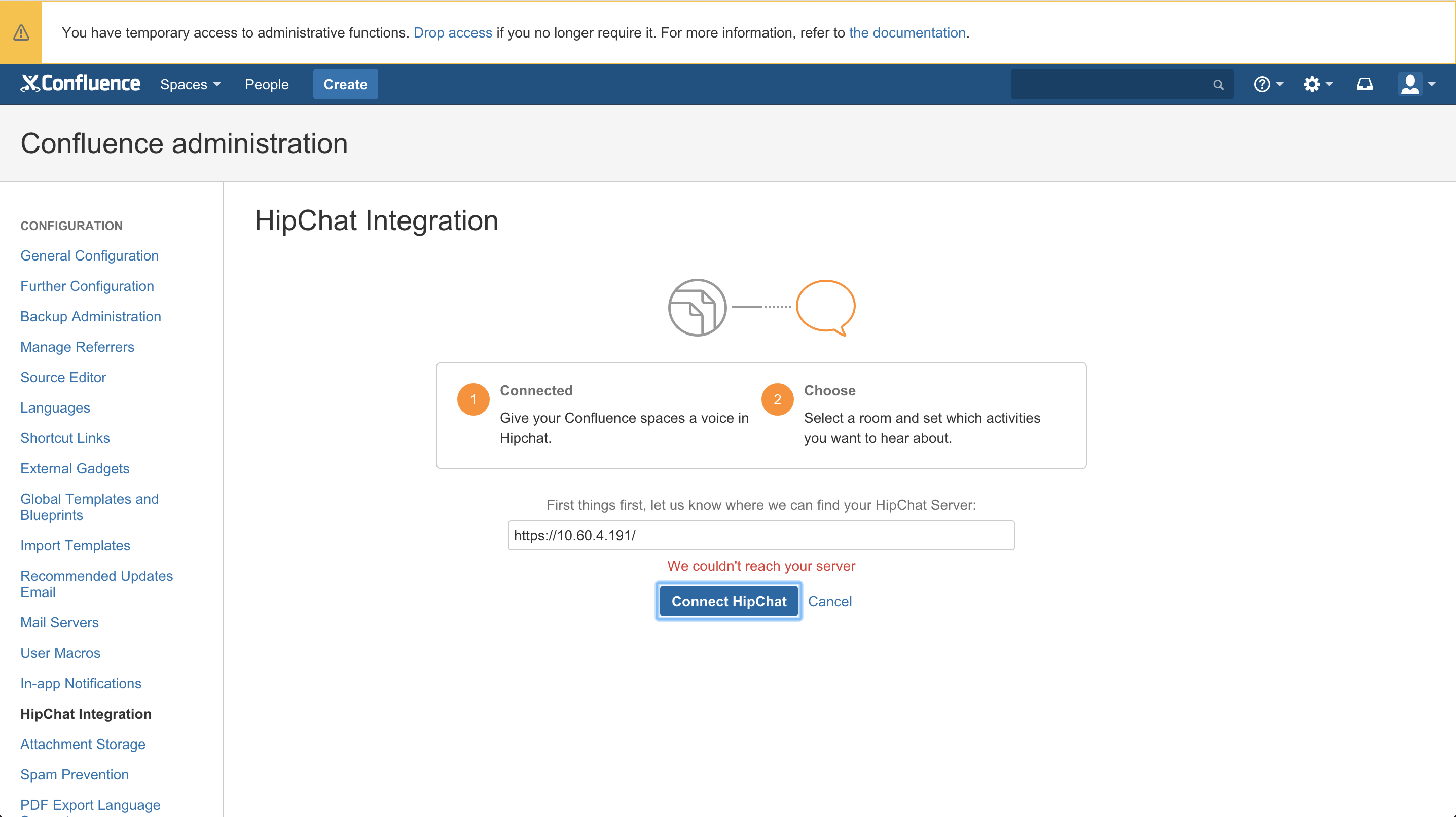 Cannot Integrate Hipchat Server With Confluence Or Jira With