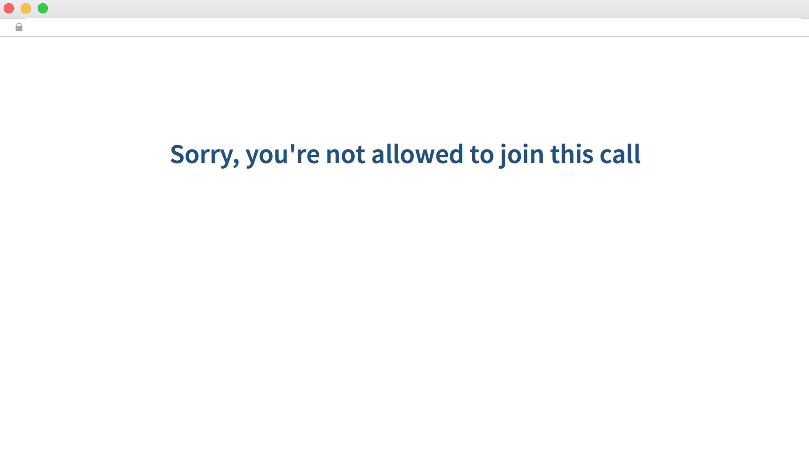 Unable to Make Video Calls with Error