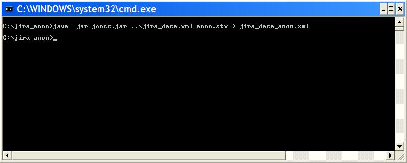 Windows のコマンド プロンプト。