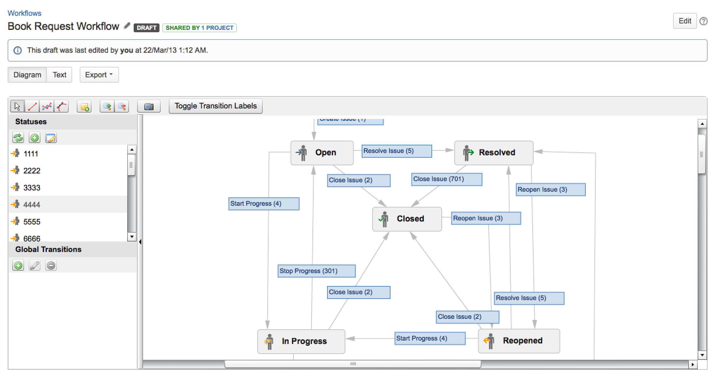 configuring workflow   atlassian documentationdiagram edit mode   known as the workflow designer in earlier jira versions