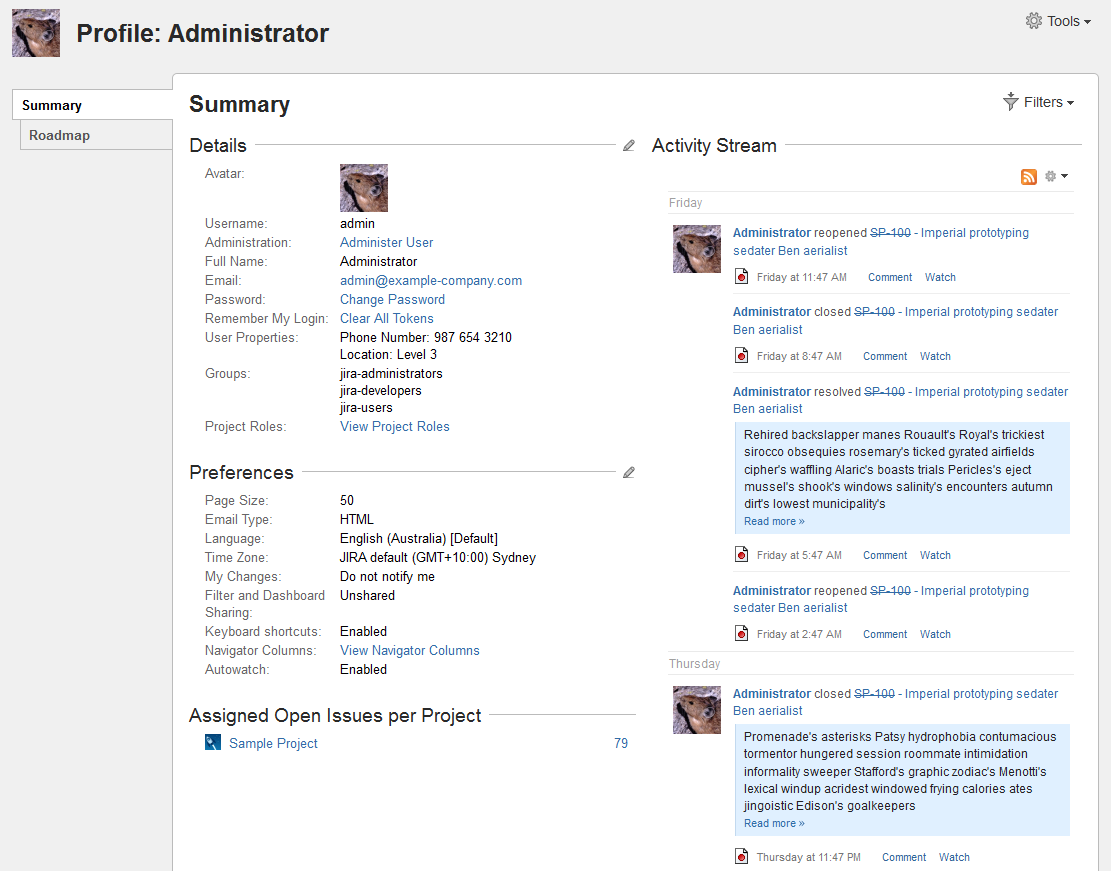 Managing your User Profile - Atlassian Documentation