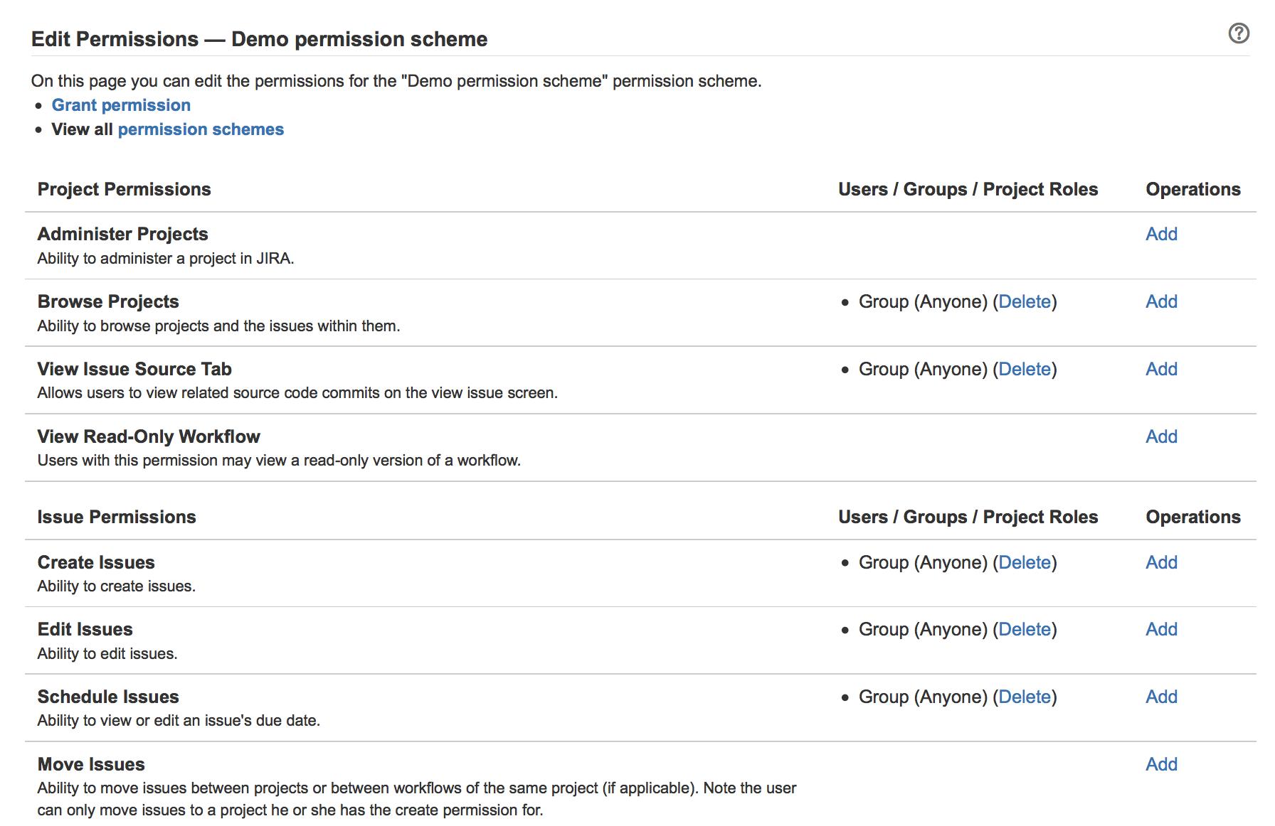 managing project permissions atlassian documentation
