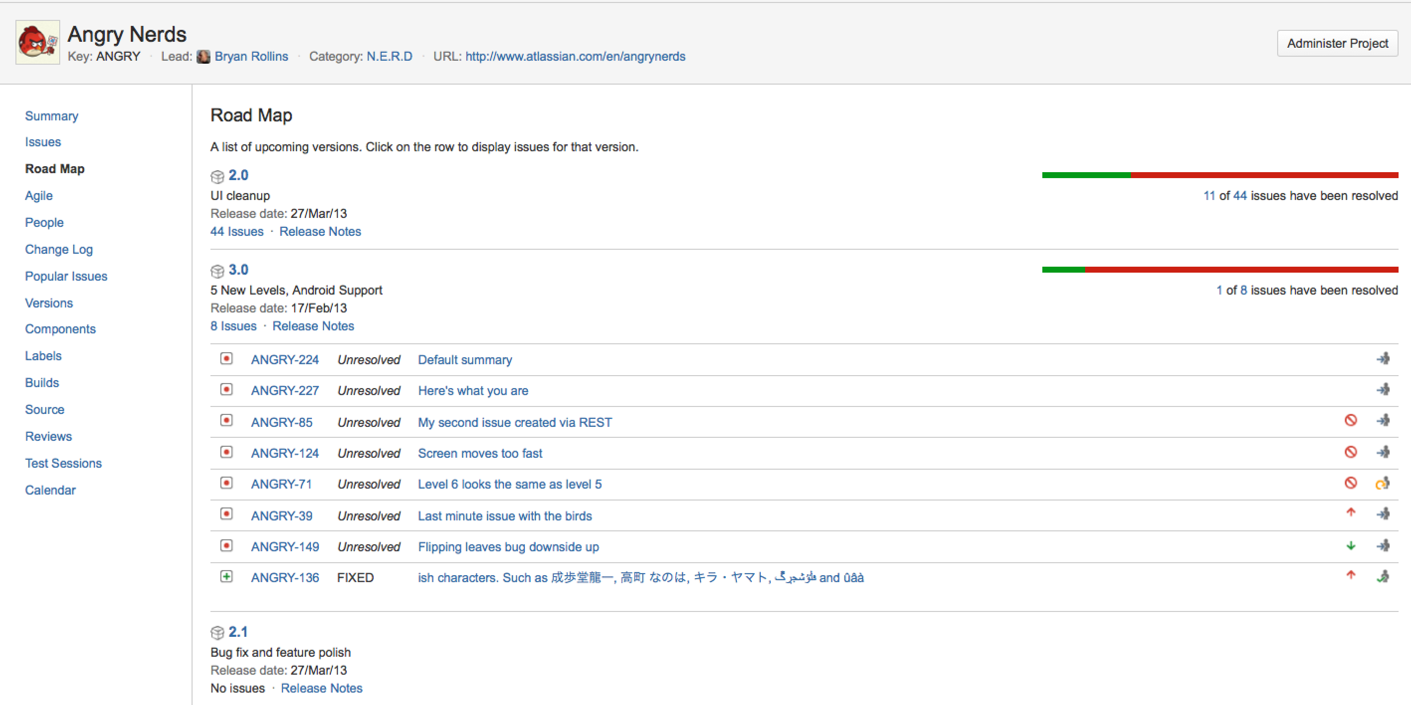 Browsing a Projects Road Map Atlassian Documentation – Project Roadmap