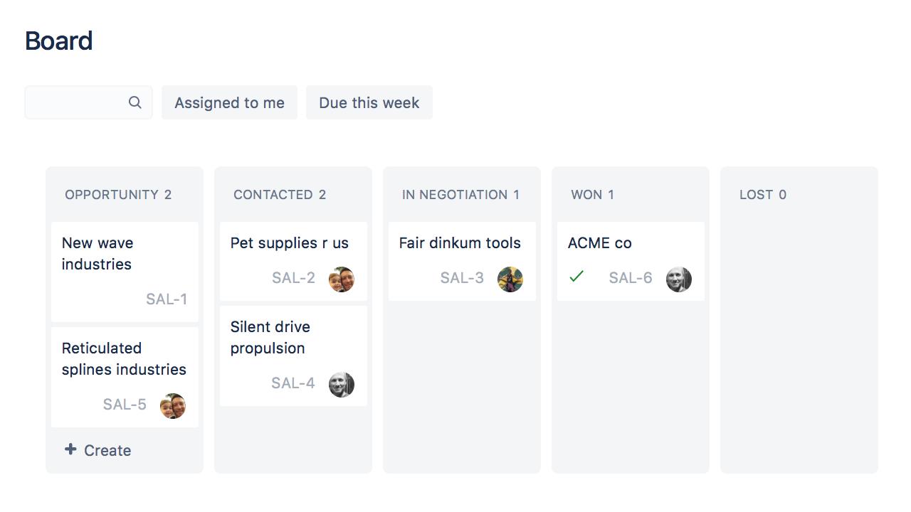 using jira core for sales teams atlassian documentation