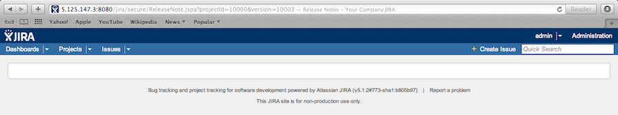 JIRA Unable To Load Custom Release Notes Template Due To \'differing ...
